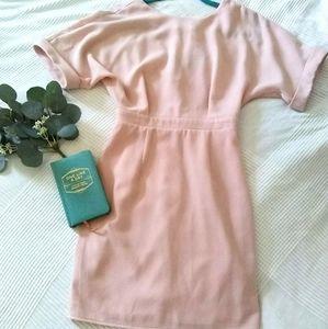ASOS Dress Blush Pink Dusty Rose Pencil Skirt